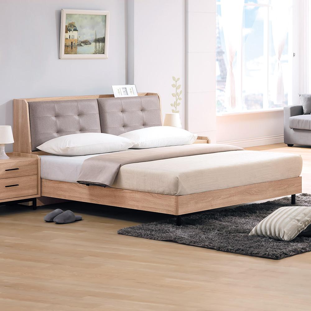 Bernice-路克6尺北歐風雙人加大床組(床頭箱+床架)(不含床墊)