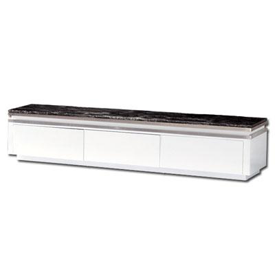 《居家生活》艾瑪特6.6尺白色石面三抽長櫃/電視櫃