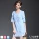 LIYO理優洋裝V領縷空洋裝(粉,藍,白)