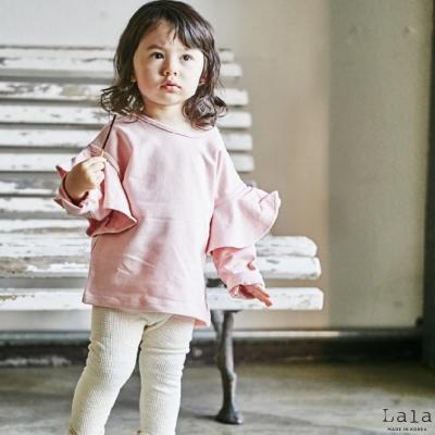 Lala韓國 翅膀荷葉邊長袖上衣