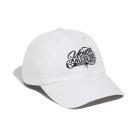 Y.A.S 草寫LOGO棒球老帽-率性白