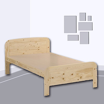 AS-可萊雅松木5尺雙人床架-150x191x72cm