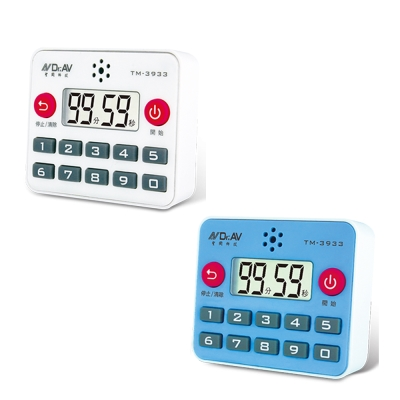 TM-3933 分秒直按式炫彩計時器  (2入/組) 顏色隨機