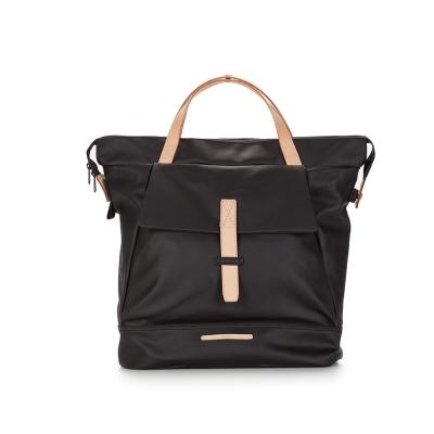 RAWROW-帆布系列-13吋俐落兩用後背包(後背/肩背)-墨黑-RBP550BK