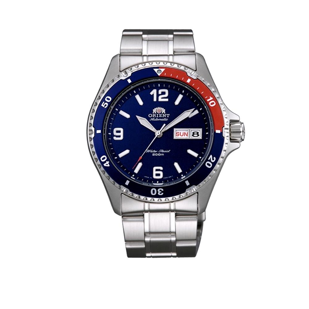 ORIENT 東方錶 藍水鬼 機械錶(FAA02009D)-藍-紅/41.5mm