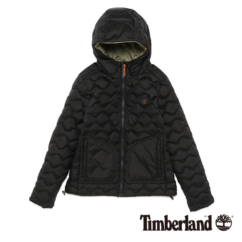 Timberland 女款黑色雙面輕量羽絨夾克外套