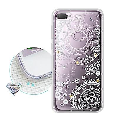 浪漫彩繪 HTC Desire 12+/12 Plus 水鑽空壓氣墊手機殼(齒輪...