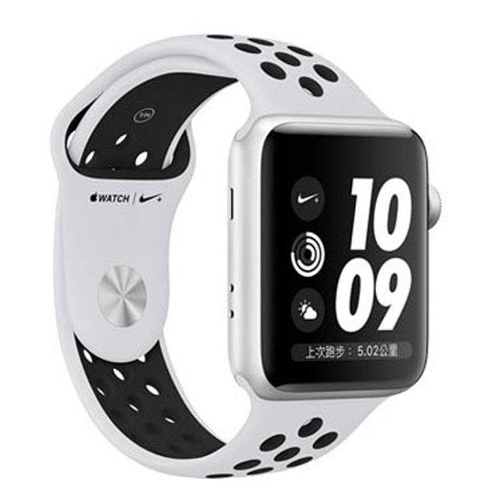 Apple Watch3 Nike 42mm銀鋁搭白運動型錶帶