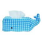 Yvonne Collection鯨魚格子面紙套-藍