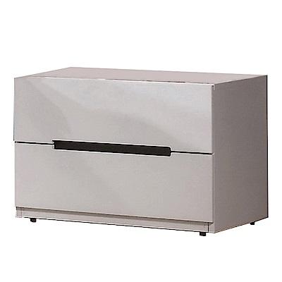 品家居 凱伊1.9尺雙色二抽床頭櫃-58x41.5x43cm-免組