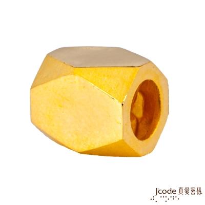 J'code真愛密碼 左偏執面黃金串珠-男
