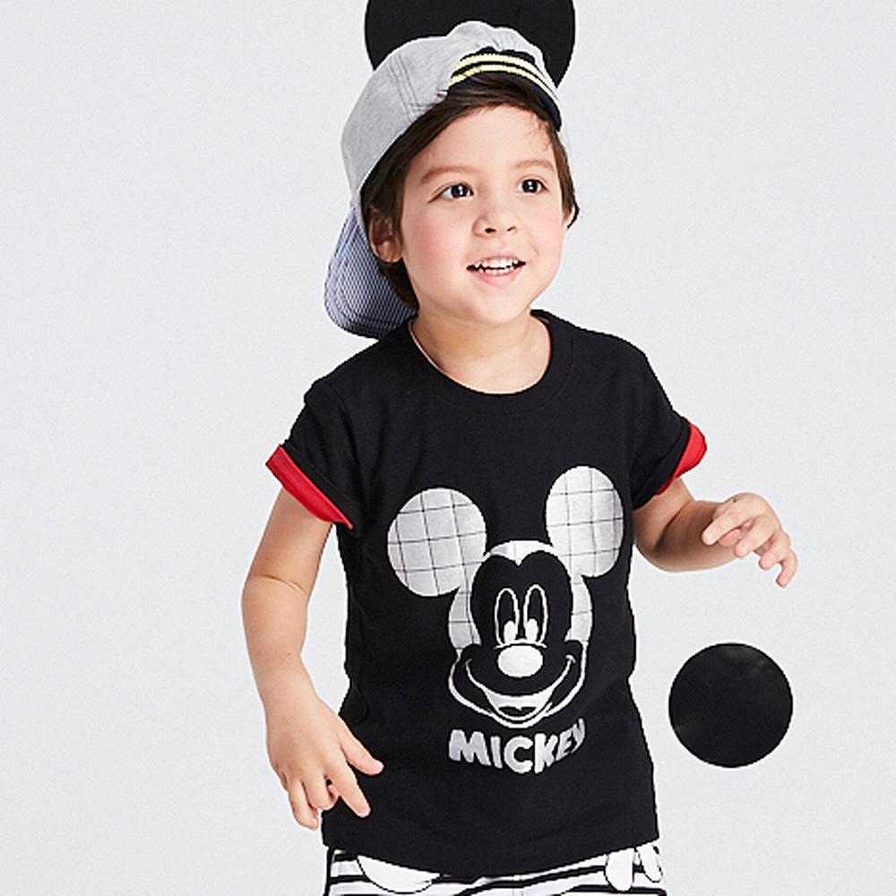 Disney 米奇系列閃亮數位圓領上衣 (2色可選)