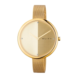 ELIXA Beauty時尚雙色錶盤米蘭帶系列 香檳金40mm