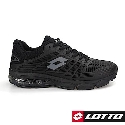 LOTTO 義大利 男  PHOENIX KPU氣墊跑鞋(黑)