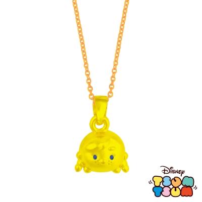 Disney迪士尼TSUM TSUM系列金飾-黃金墜子-安娜款 送玫瑰鋼項鍊