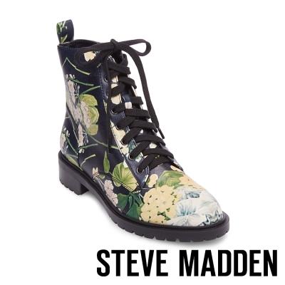STEVE MADDEN-OFFICER 綁帶短筒靴-花草綠
