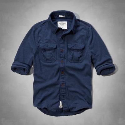 AF a&f Abercrombie & Fitch 長袖 襯衫 藍色 0131