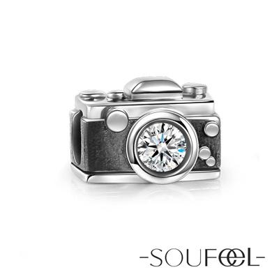 SOUFEEL索菲爾 925純銀珠飾 復古照相機 串珠