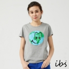 ibs環保愛地球圖騰個性T-女-灰
