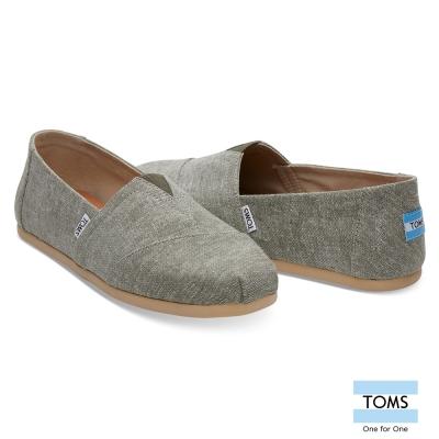 TOMS 經典帆布休閒鞋-男款