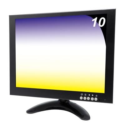 奇巧  10 吋LED液晶螢幕顯示器(AV、BNC、VGA、HDMI四合一)