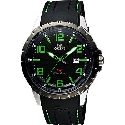 ORIENT 東方錶 SP 系列 冒險家運動石英錶-黑x綠時標/44mm