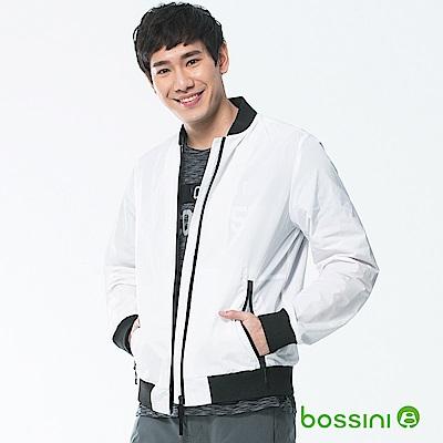 bossini男裝-長袖夾克外套01白