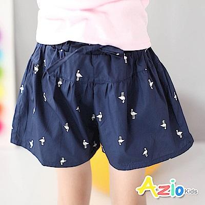 Azio Kids 童裝-短褲 動物剪影傘擺休閒短褲(深藍)