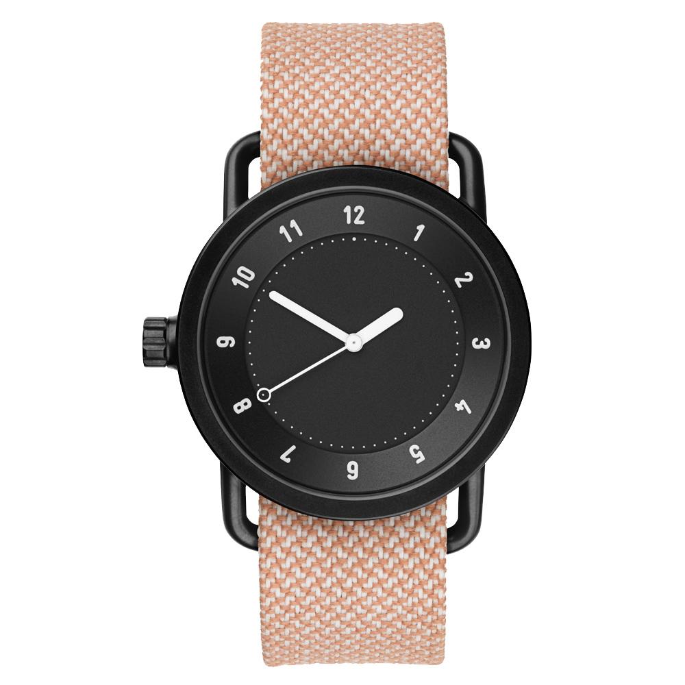 TID Watches No.1 Black 黑底x淡橘色腕錶/40mm