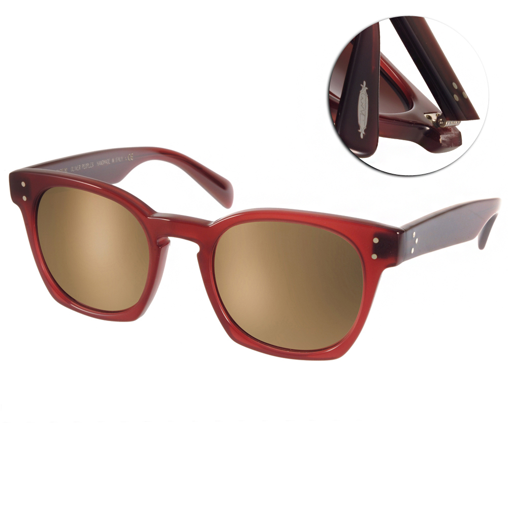 OLIVER PEOPLES太陽眼鏡 好萊塢星鏡/紅棕-水銀#BYREDO 1577W4