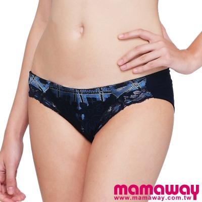 Mamaway-格紋蕾絲內褲-共二色