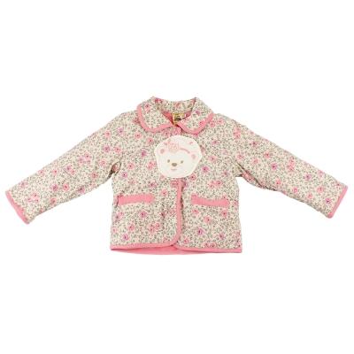 愛的世界 MYBABY 小熊甜心舖棉長袖外套/4~8歲