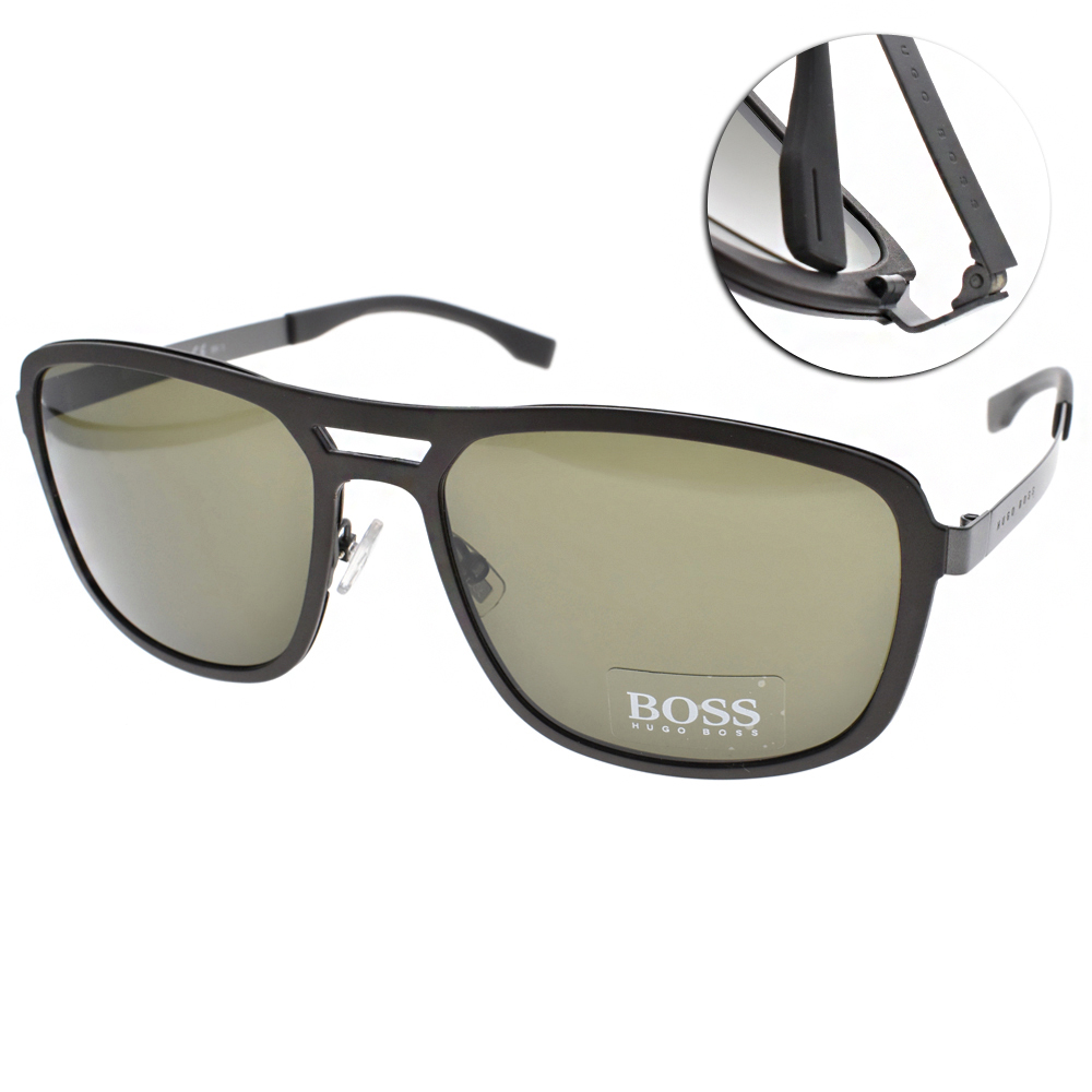 HUGO BOSS太陽眼鏡 紳士飛官款/深咖啡#HB0723S KDR