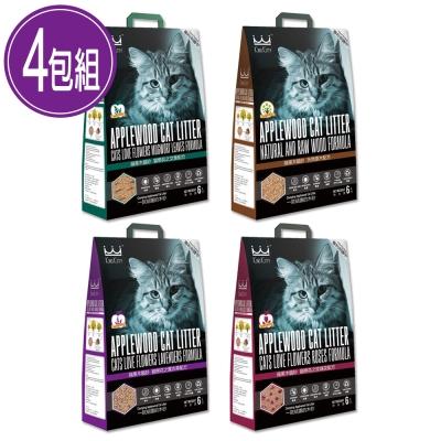 KING KITTY 國王 環保木砂系列 蘋果木貓砂 6L x4包