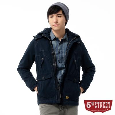 5th-STREET-外套-剪裁鋪棉平織外套-男-黑藍