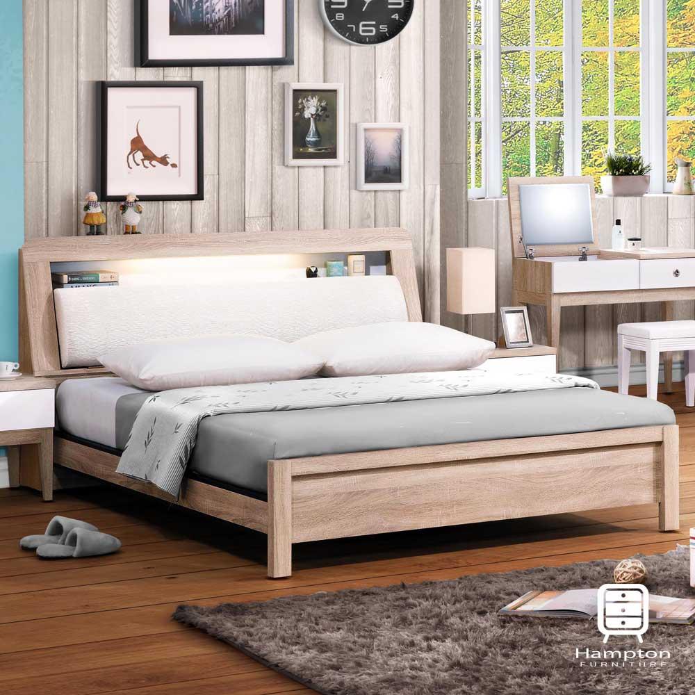漢妮Hampton弗洛系列5尺床箱式床台