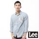Lee 長袖襯衫 法藍絨拼接-男款(粉橘+藍