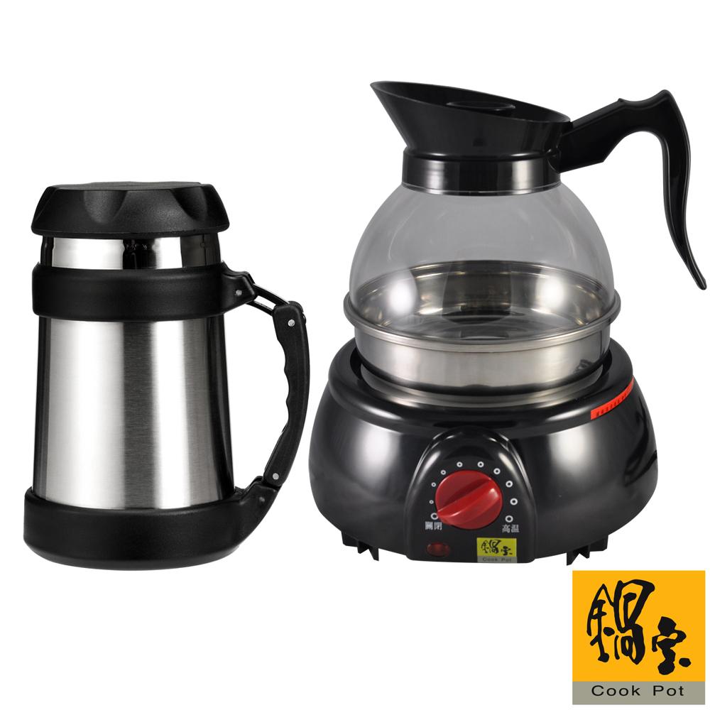 鍋寶1.8L養生泡茶壺0.5L悶燒杯組(KT-1815)