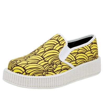 TUK VIVA 輕量搖滾香蕉休閒鞋-黃