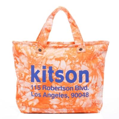 kitson-彩染漸層帆布托特包-ORANGE