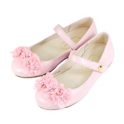 Swan天鵝童鞋-真皮可愛小花花公主鞋 3826-粉