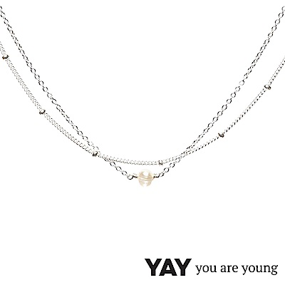 YAY You Are Young 法國品牌 Stella 珍珠項鍊 925純銀