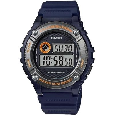 CASIO卡西歐 運動計時腕錶-藍/43mm