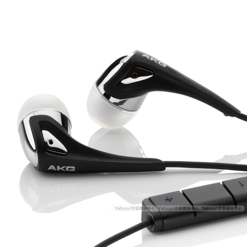 AKG K375 iPhone 用耳道式線控耳麥-黑