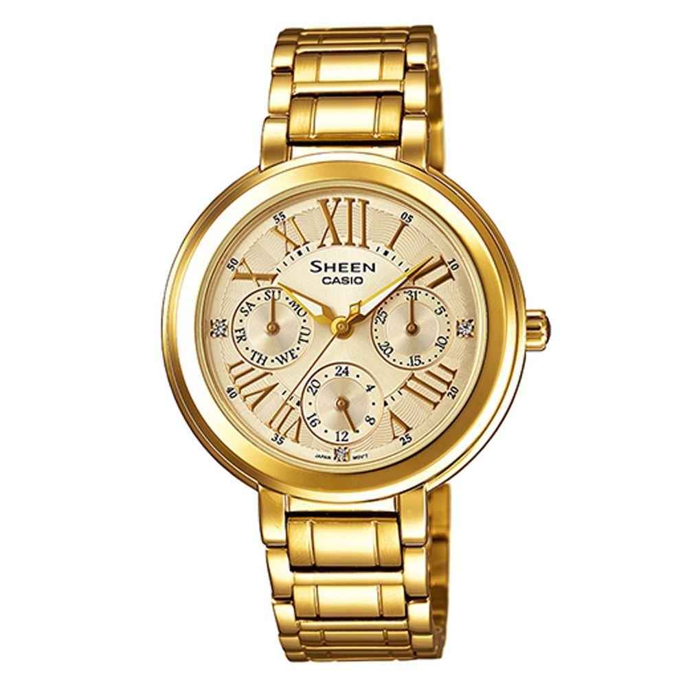 SHEEN 完美閃耀羅馬時刻施華洛世奇腕錶(SHE-3034GD-9A)-金色IP/34mm
