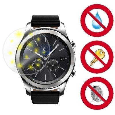 D&A Samsung Gear S3 手錶專用玻璃奈米5H 螢幕保護貼(超值2入)