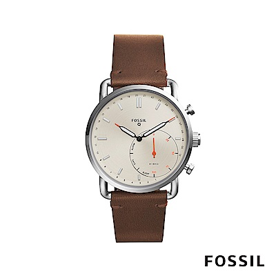 FOSSIL Q COMMUTER 智能錶-米白色 約44mm FTW1150