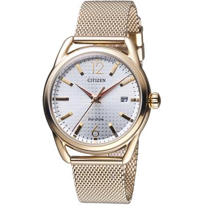 CITIZEN 星辰 美麗風情米蘭風時尚腕錶(FE6089-84A)-淺香檳色/36mm
