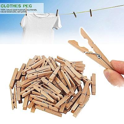 (超值100入) kiret 原木 曬衣夾 多用途 裝飾 木夾-菜單夾 便條夾