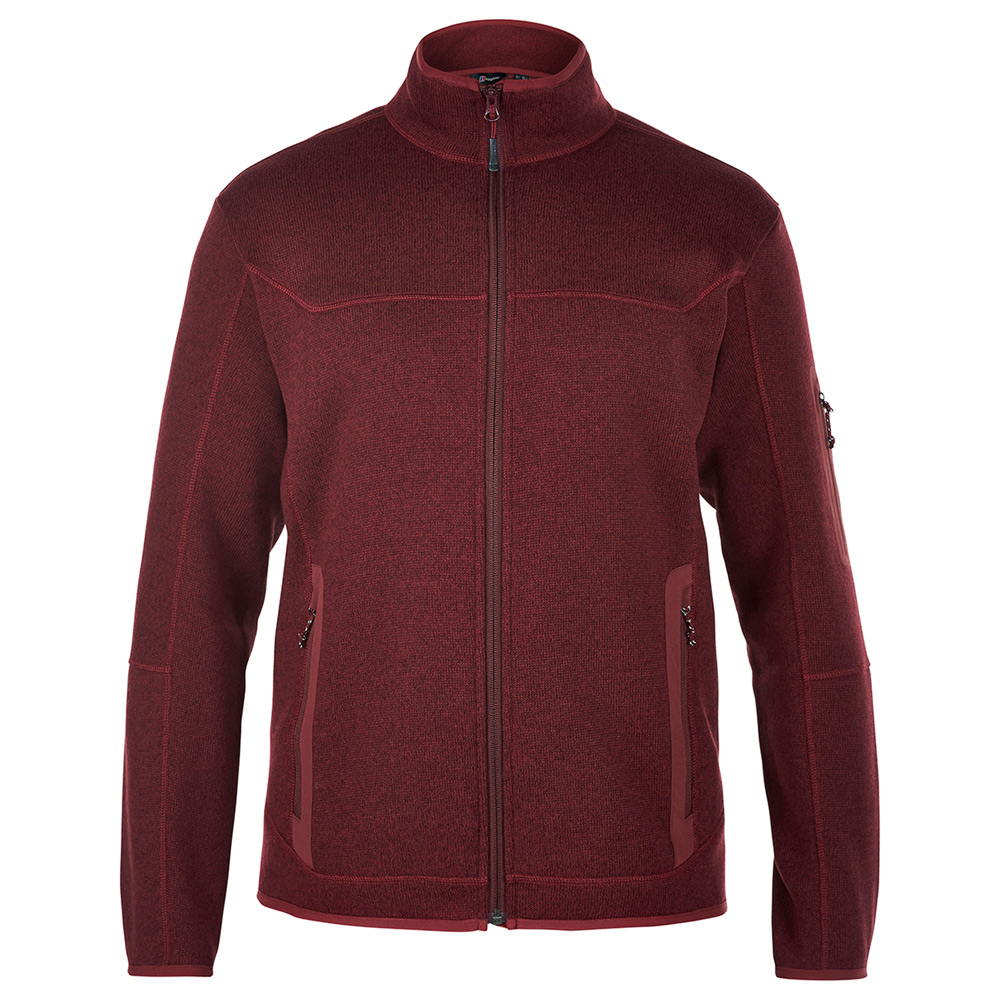 【Berghaus 貝豪斯】男款 TULACH 刷毛保暖外套H22M30-紅